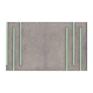 O.T.  (grün-grau) 2005 Aquarell und Graupappe, gewachst, je 18 x 30 cm