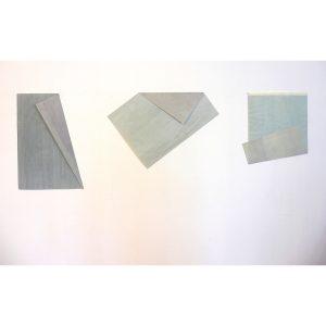 2009 Aquarell gewachst gefaltet, je ca. 60 x 40 cm