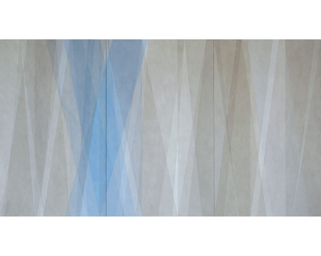 2013/2014 Aquarell und Lack auf Hartfaser, 120 x 240 cm